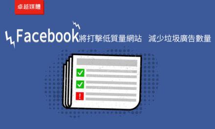 Facebook將打擊低質量網站 減少垃圾廣告數量